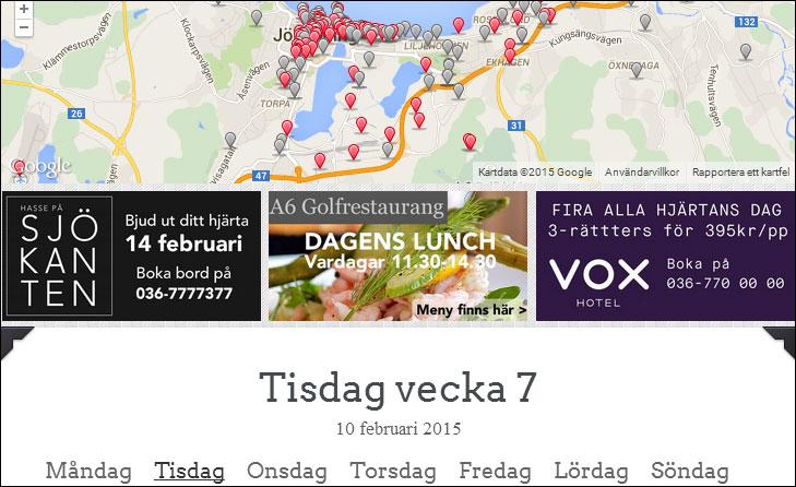 Annonser på VÄRNAMOLUNCH.se